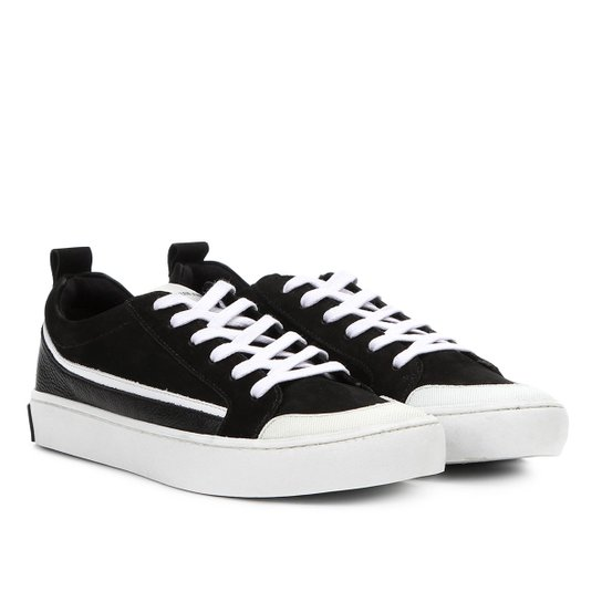 Tênis Couro Calvin Klein Recortes Masculino - Preto - Compre Agora ... 673d509d8f