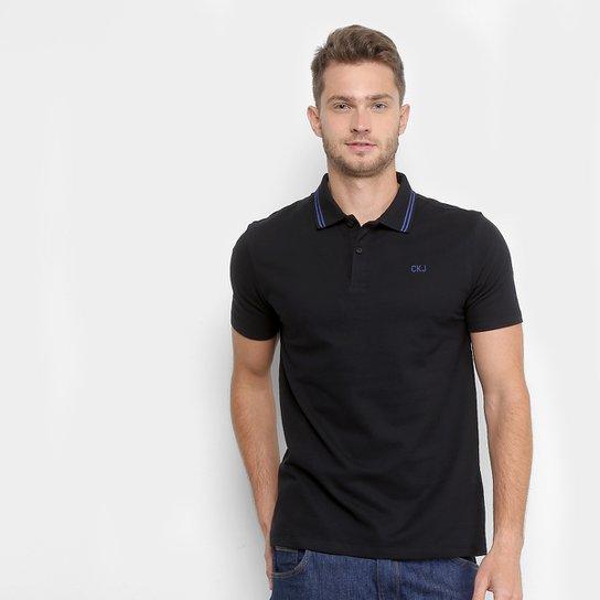 Camisa Polo Calvin Klein Piquet Básica Masculina - Compre Agora ... ee39cc56db9c8