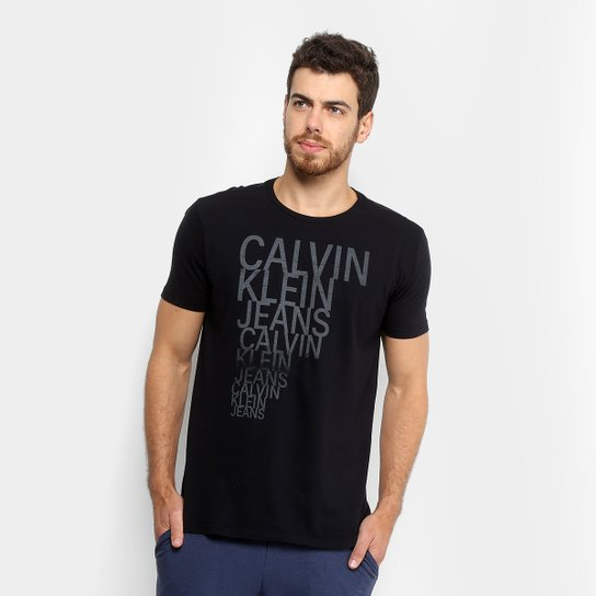 407da9e4d0f9c Camiseta Calvin Klein CKJ Slim Masculina - Compre Agora