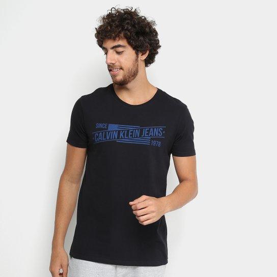 30d84e2789fd Camiseta Calvin Klein Jeans Slim Since 1978 Masculina   Netshoes