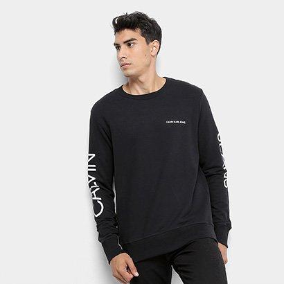 Moletom Calvin Klein Logo Masculino