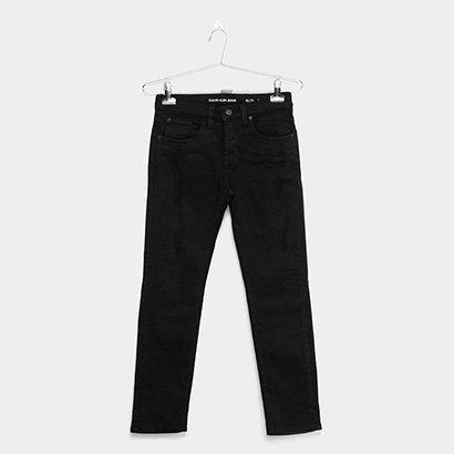 Calça Infantil Calvin Klein Color Skinny Five Pockets Masculina