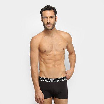 Cueca Boxer Calvin Klein Trunck Cotton Statement Masculina