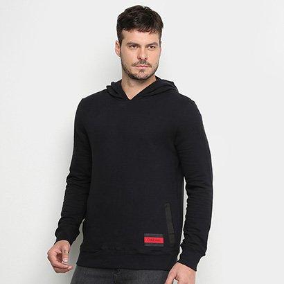 Moletom Calvin Klein Capuz Bolso Canguru Masculino