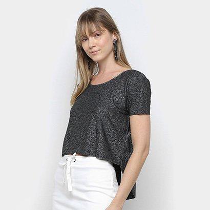 Blusa Calvin Klein Assimétrica Lurex Feminina