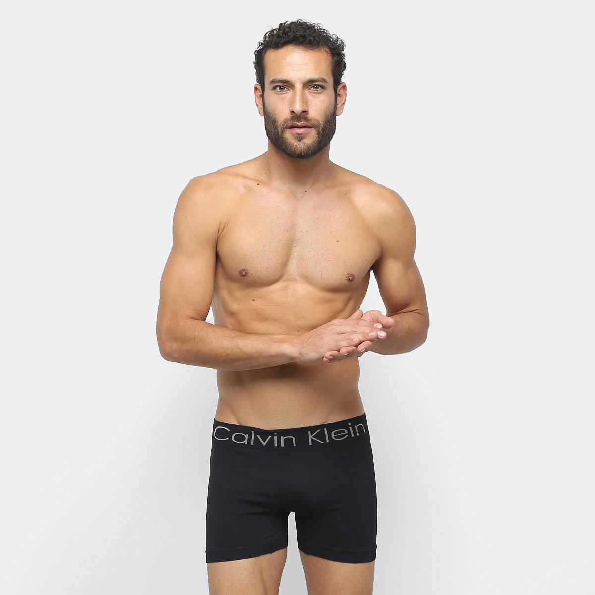Foto 2 - Cueca Calvin Klein Masculino  Trunk Seamless Logo-PIT1572