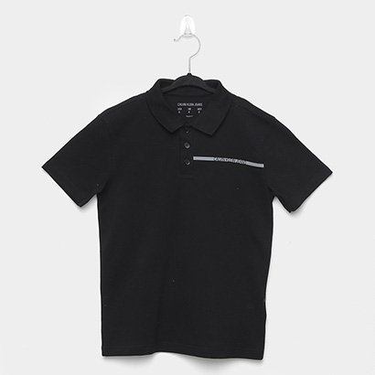 Camisa Polo Infantil Calvin Klein Lisa Masculina