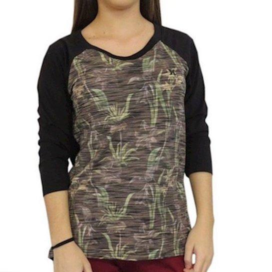 Camiseta Raglan Especial Beavis Hurley Feminina - Preto - Compre ... 10bdaab5c72