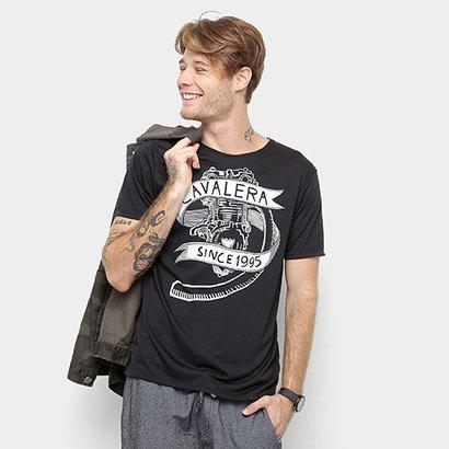 5c12e97e6b Camiseta Cavalera Manga Curta Estampada Masculino