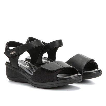 Sandália Comfortflex Papete Velcro Feminina