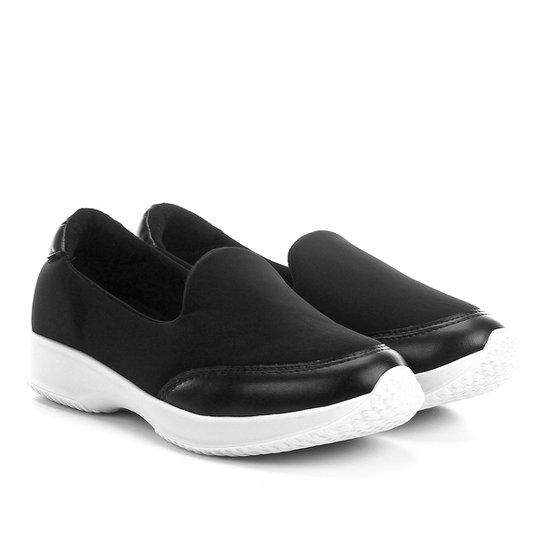 80995827b Slip On Modare Neoprene Ultra Conforto Feminino - Preto | Netshoes