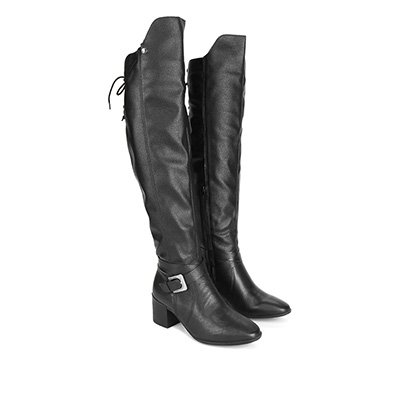 Bota Couro Over The Knee Bottero Fivela Feminina