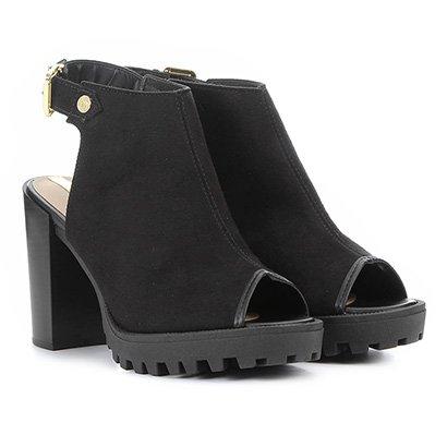Ankle Boot Moleca Tratorada Feminina