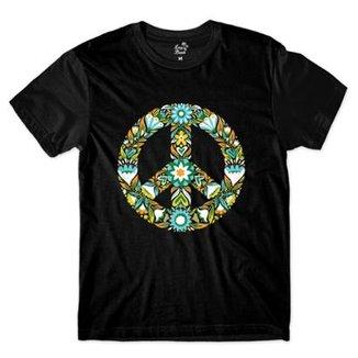 Camiseta Long Beach Simbolo da Paz Mandala Flor Sublimada 25a0ffa8521