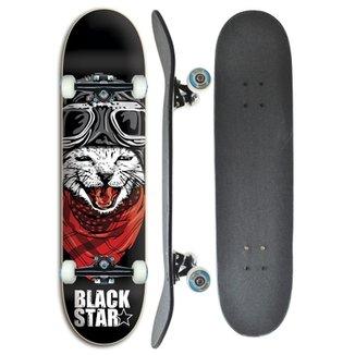 Skate completo Profissional Black Star Cat 7.8 14803e5ddc5d5