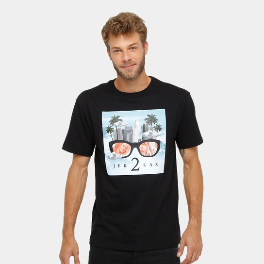 Camiseta DGK JFK 2 LAX Masculina - Compre Agora  f46de31f86f64