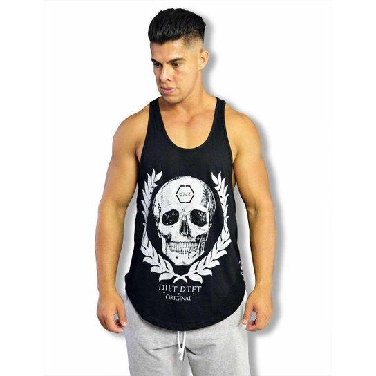 Regata Cavada Masculina Skull Arch Diet Pto - Preto - Compre Agora ... 313e7fb9f62