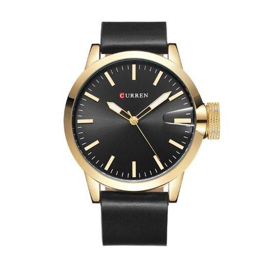 905581b17c2 Relógio Curren Analógico 8208 E Dourado - Preto - Compre Agora ...