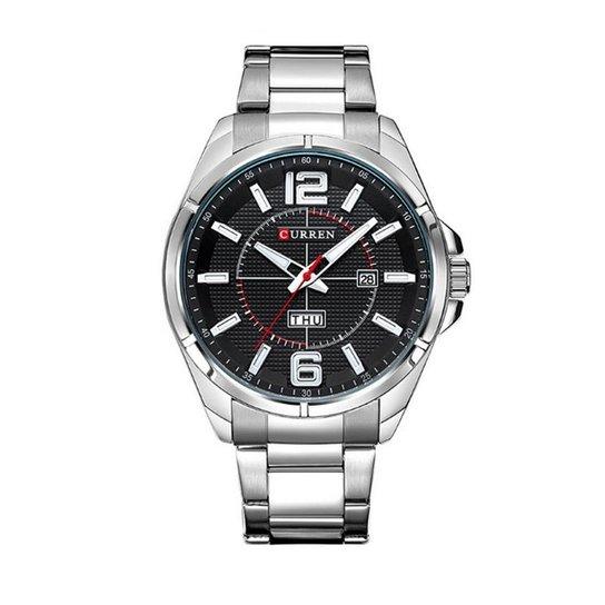 55226c4fe7c Relógio Curren Analógico 8271 Preto e Prata - Compre Agora