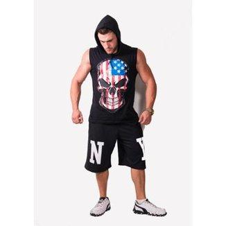 Compre Camiseta Regata Com Capuz Online  218c04daf3f