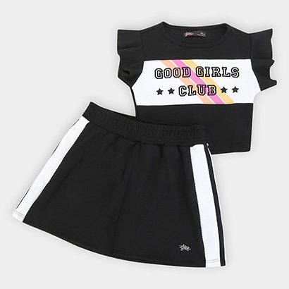Conjunto Infantil Gloss Jacquard Good Girls Club Feminino