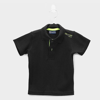 Camisa Polo Infantil Quimby Pique Básica Masculina