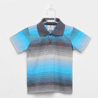 Camisa Polo Infantil Up Baby Listrada Masculina