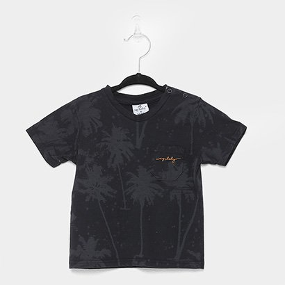 Camiseta Infantil Up Baby Tropical Blur Bolso Masculina