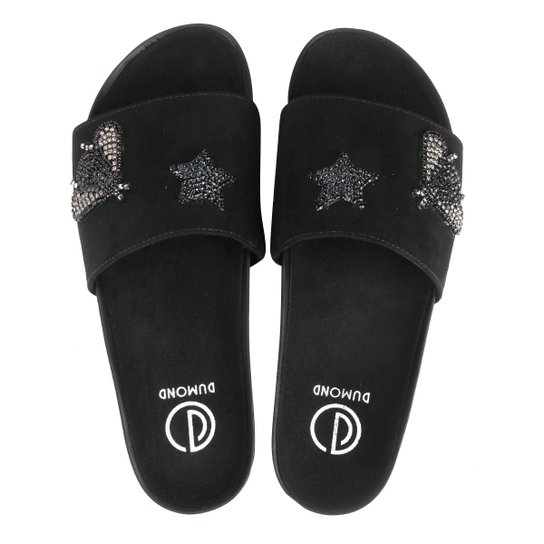 a19ce28818 Chinelo Dumond Slide Patches Strass - Compre Agora