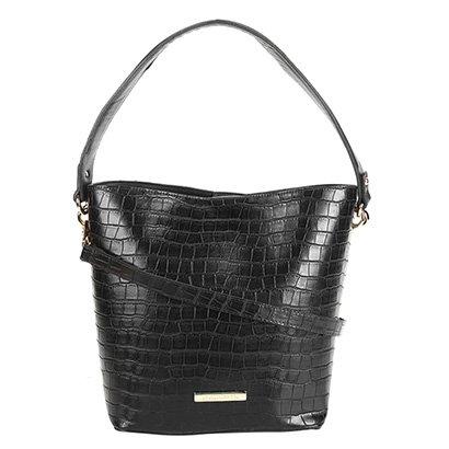 Bolsa Loucos & Santos Handbag Croco Plaquinha Feminina