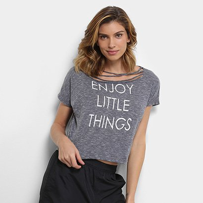 Blusa Burn Cropped Burn Enjoy Little Things Feminina