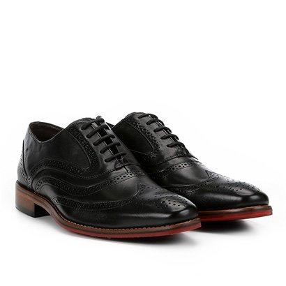 Sapato Brogue Couro Ferracini Caravaggio Premium Inglês