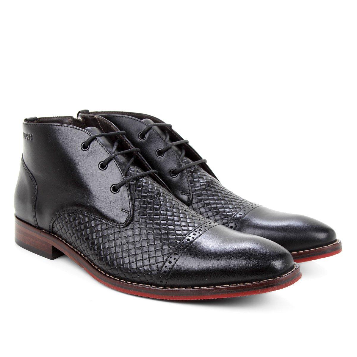 Sapato Social Couro Ferracini Caravagio Croco Masculino
