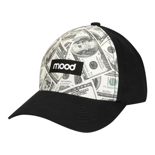 Boné Mood Aba Curva 100 Dólares Masculino - Preto - Compre Agora ... 4c86257f61a