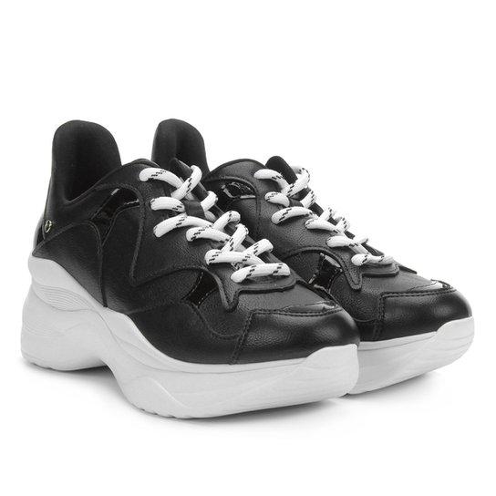 dfb7eca8f Tênis Tanara Chunky Sneaker Feminino - Preto | Netshoes