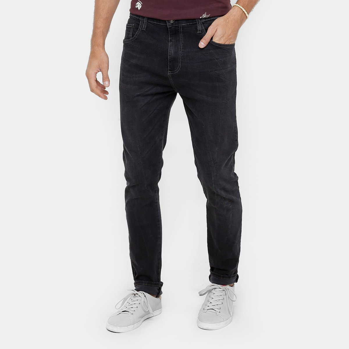 Calça Jeans Skinny Colcci Enrico Lavagem Escura Masculina