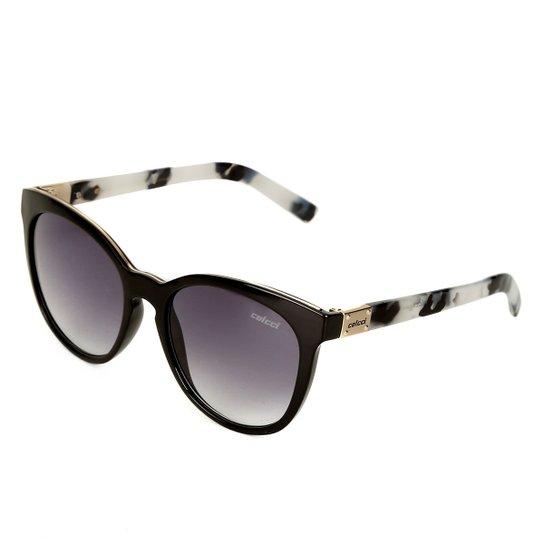 42f9bca6e9abe Óculos de Sol Colcci Gatinho Nina Brilho Demi Leitoso Feminina - Preto