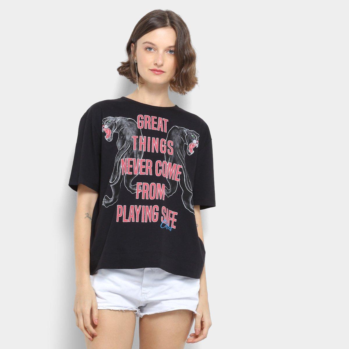 994bc7513 Camiseta Colcci Estampada Feminina