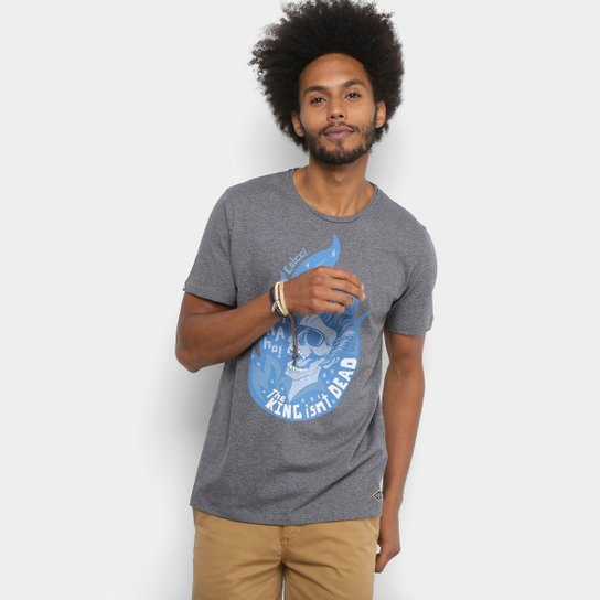 Camiseta Colcci Estampada Masculina - Cinza - Compre Agora  d59a269a3b5
