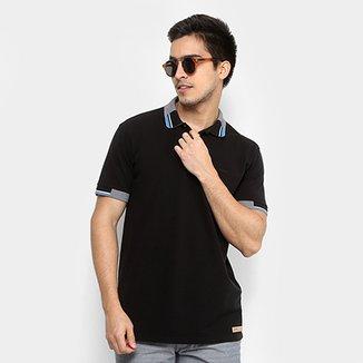 Camisa Polo Colcci Recortes Masculina f3c7cb569072a