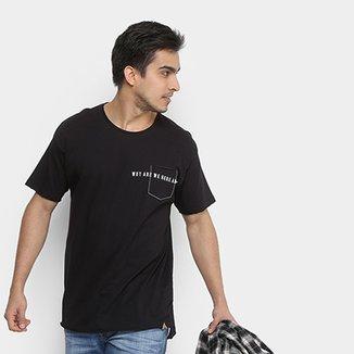 7f6cc16202 Camiseta Colcci com Bolso Bordado Masculina