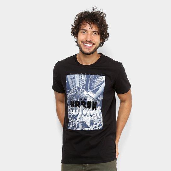 e035dc70e8 Camiseta Colcci Estampada Start Future Masculina - Preto