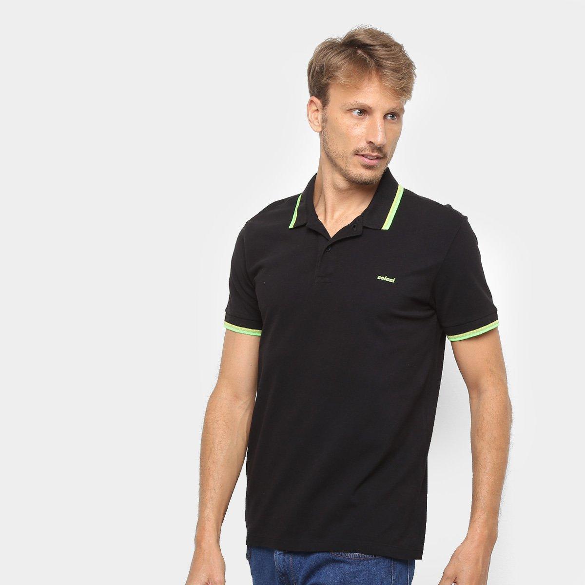 9bb461983 Camisa Polo Colcci Detalhe Neon Masculina