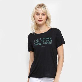42683f60d Camiseta Colcci Estampa Básica Feminina