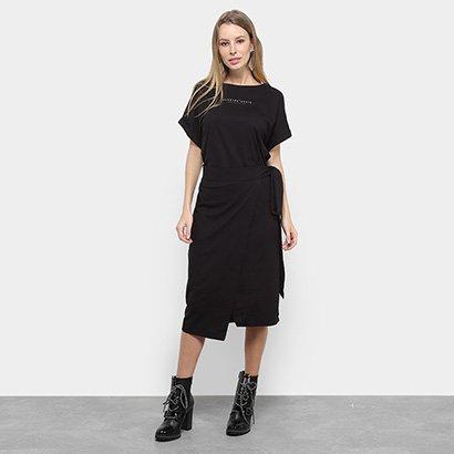 Vestido Midi Colcci Transpassado Fendas Feminino