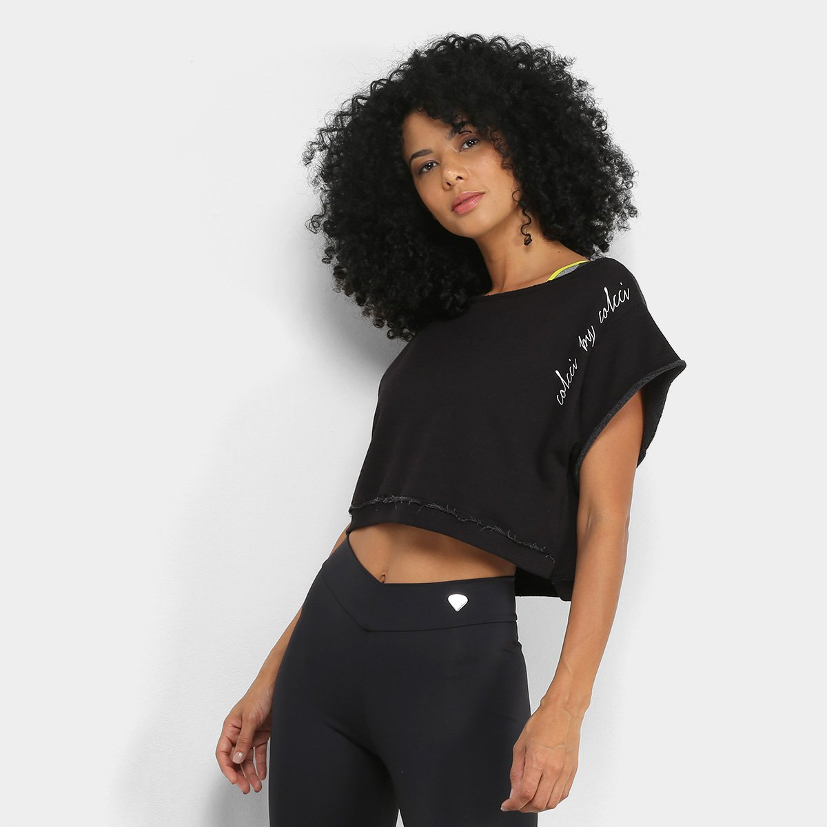 Moletom Cropped Colcci Fitness Colors Feminino