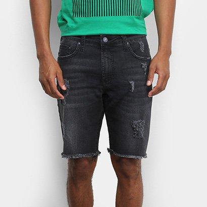 Bermuda Jeans Colcci Davi Puídos Masculina