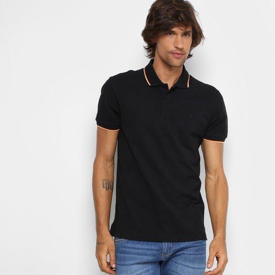 Camisa Polo Forum Piquet Frisos Color Masculina - Preto - Compre ... ff3995edaf5fb