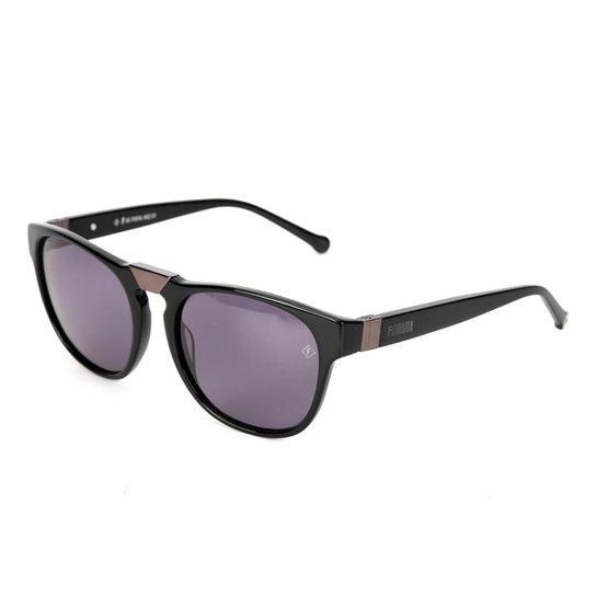 Óculos de Sol Forum F0016A0201 Metalizado Feminino - Preto - Compre ... 98df629972