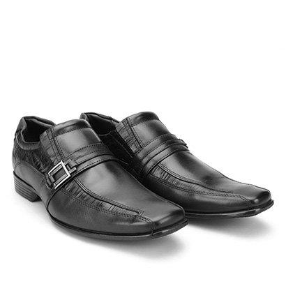 802d962f8 Sapato Social Couro Mariner Bico Quadrado Smart Masculino